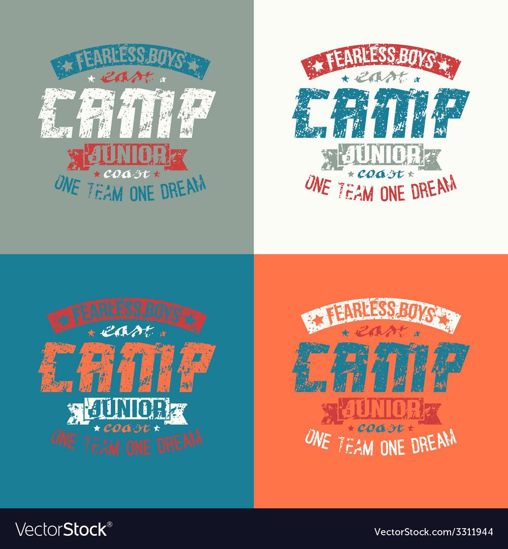 Junior sports training camp emblem vector | Price: 1 Credit (USD $1)
