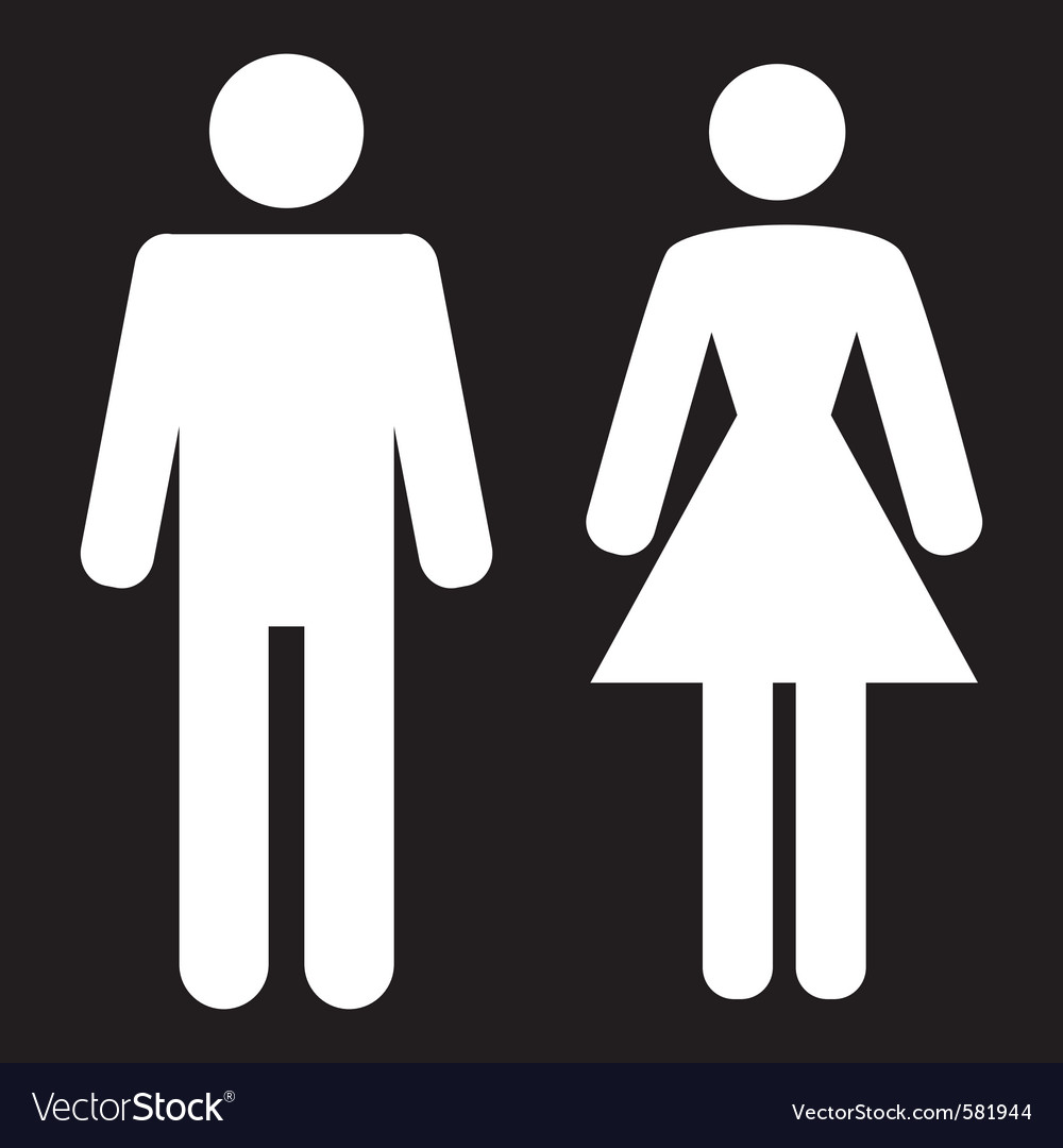 Man and woman icon vector | Price: 1 Credit (USD $1)