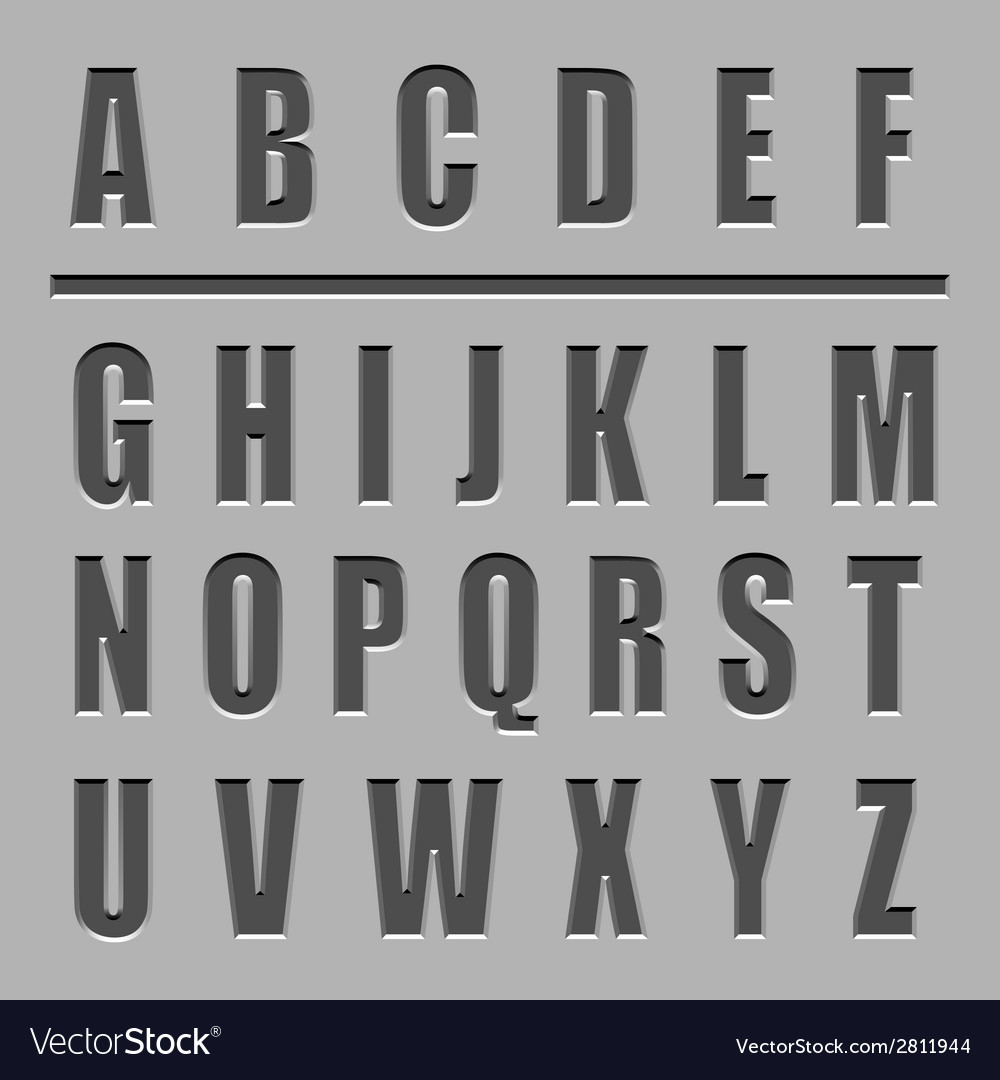 Stone carved alphabet font vector | Price: 1 Credit (USD $1)