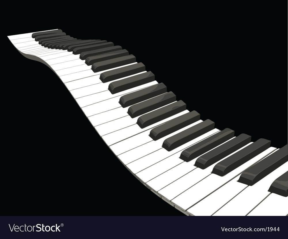Wavy piano keys vector