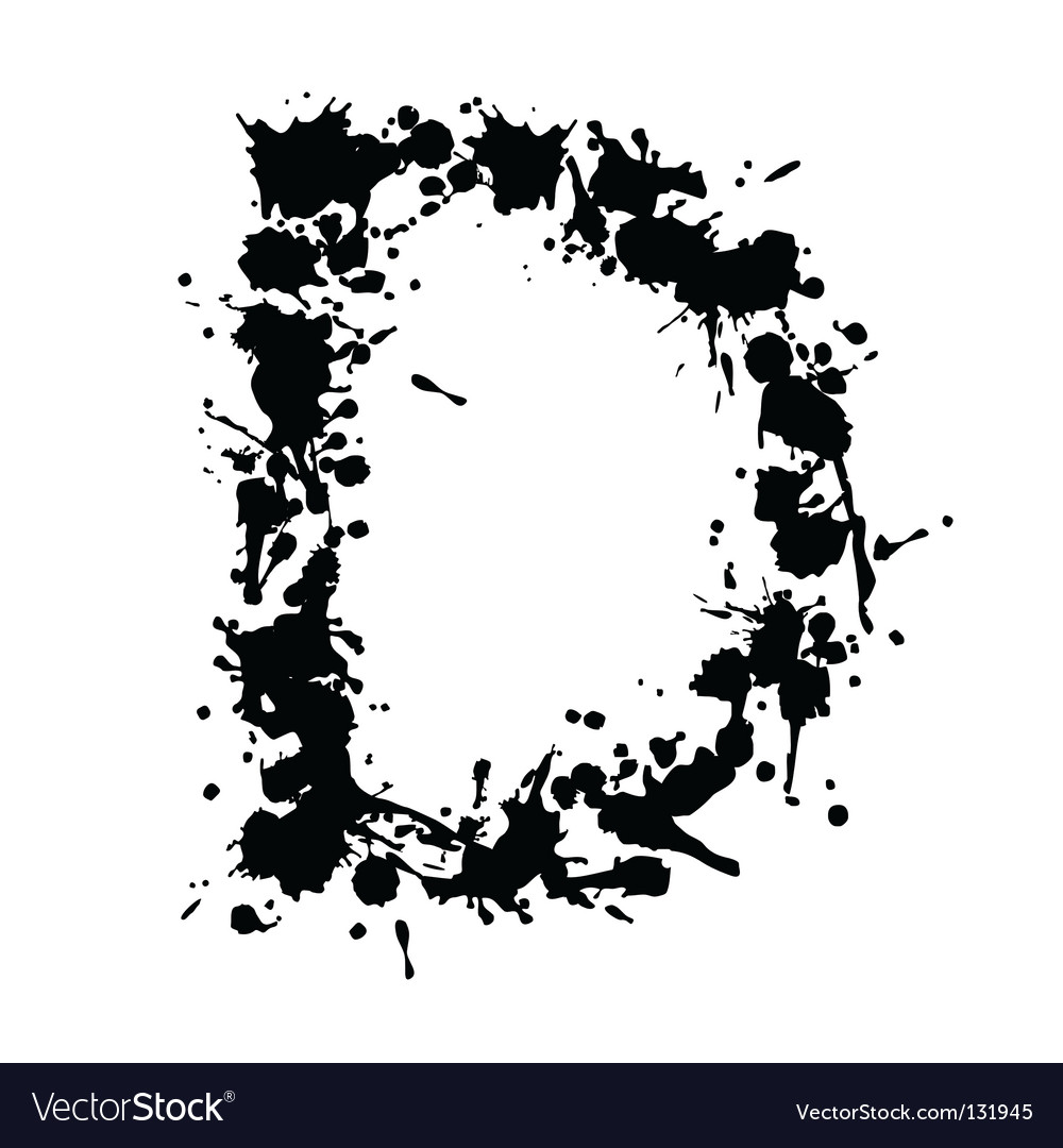 Alphabet ink d vector | Price: 1 Credit (USD $1)