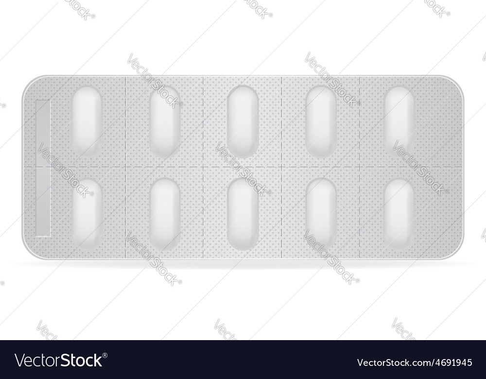 Pill in package 05 vector | Price: 1 Credit (USD $1)