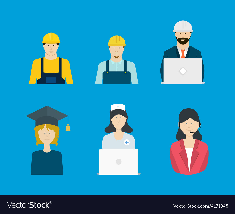 Profession occupation icons vector | Price: 1 Credit (USD $1)