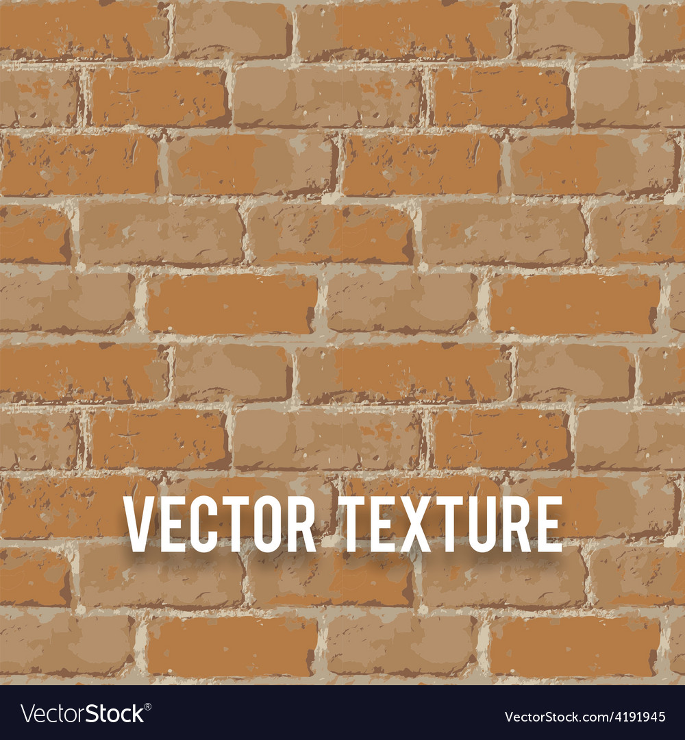 Red brick wall seamnless texture vector | Price: 1 Credit (USD $1)