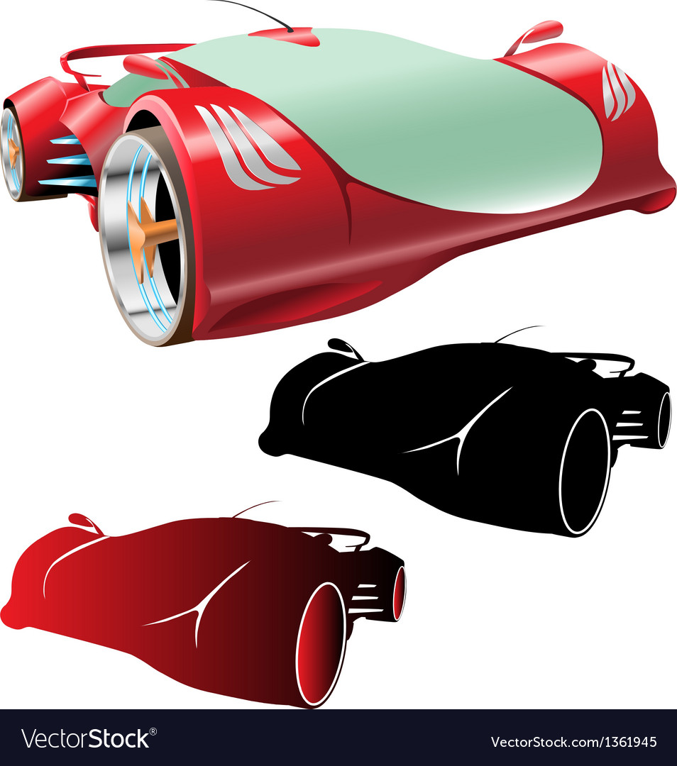 Supercar concept and silhouettes vector   Price: 1 Credit (USD $1)