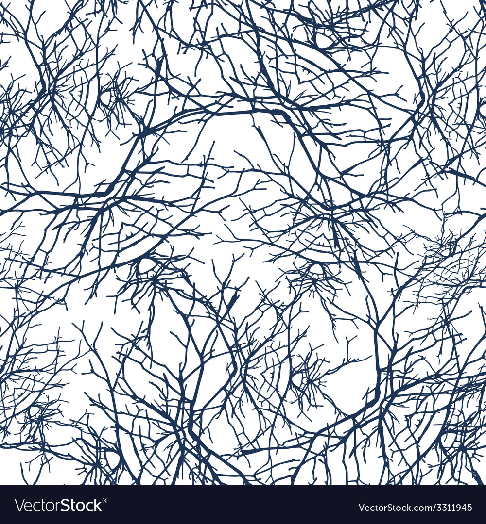 Texture branches seamless pattern vector | Price: 1 Credit (USD $1)