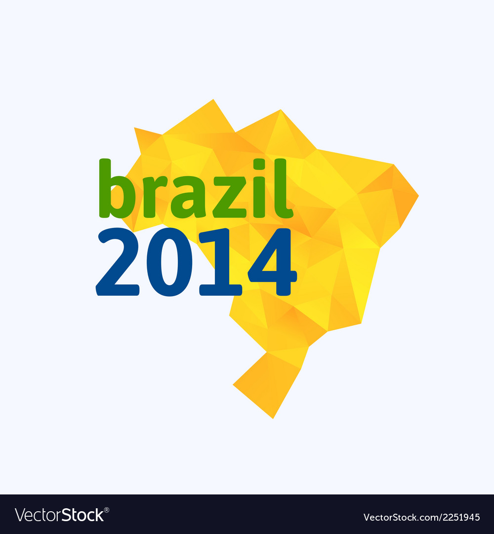 Triangle texture brazil map vector | Price: 1 Credit (USD $1)
