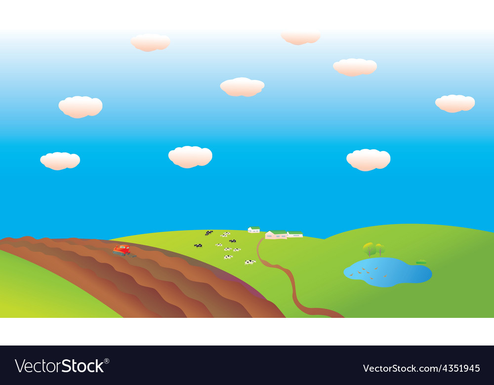 Work on the farm vector | Price: 1 Credit (USD $1)