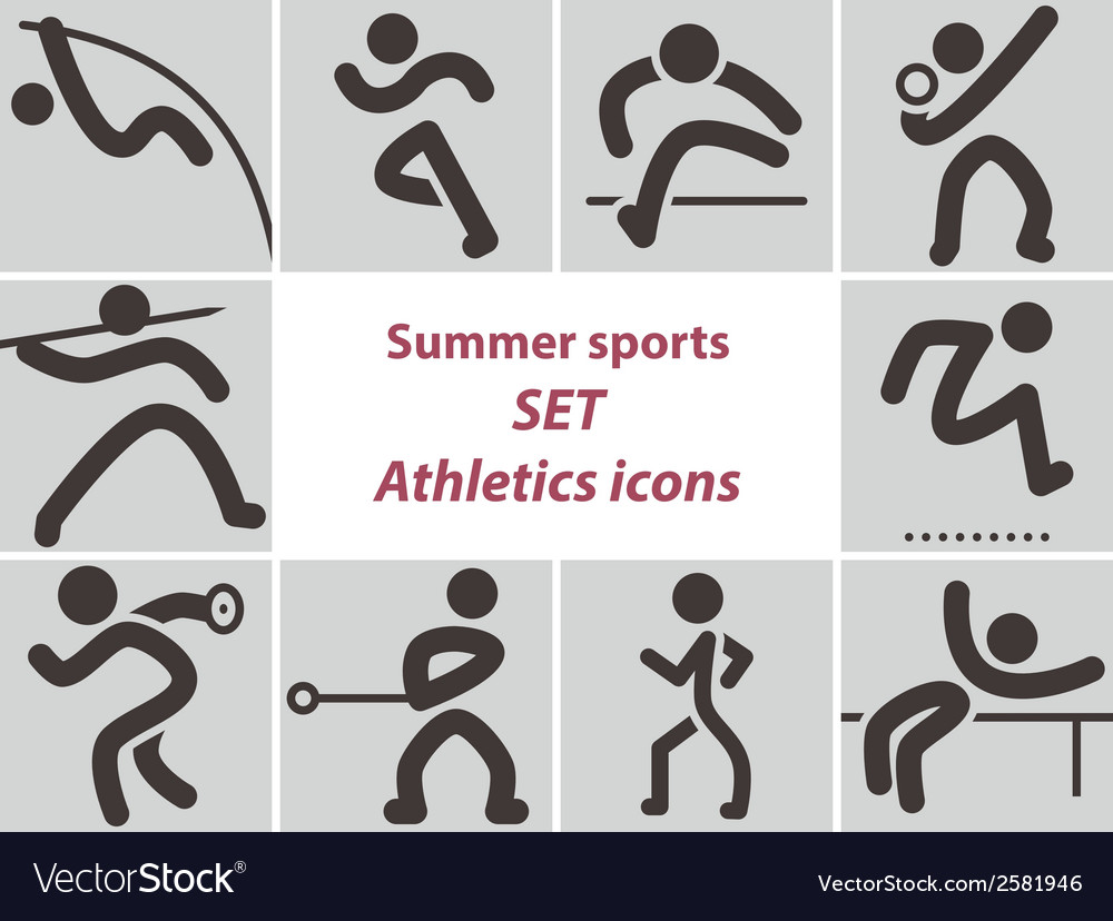2278 set of athletics icons vector | Price: 1 Credit (USD $1)