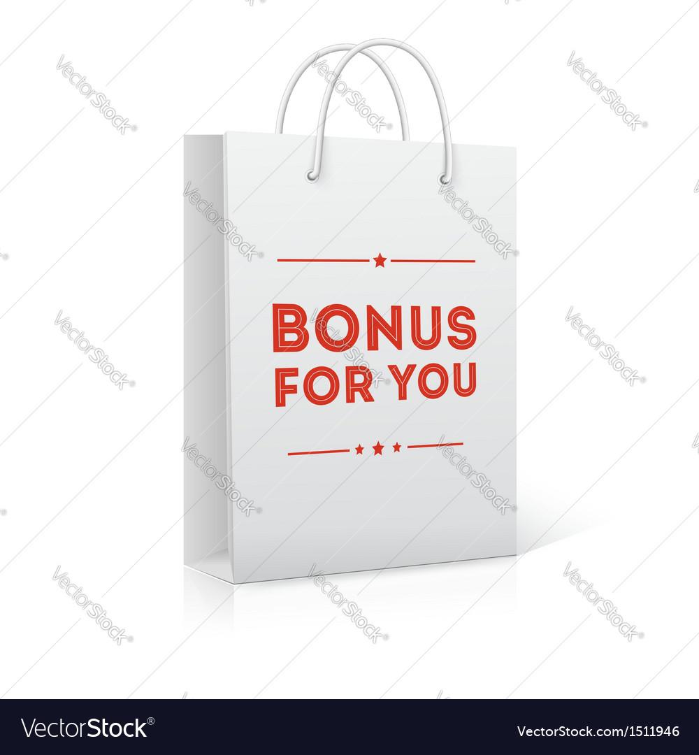 Bonus for you shopping bag vector | Price: 1 Credit (USD $1)