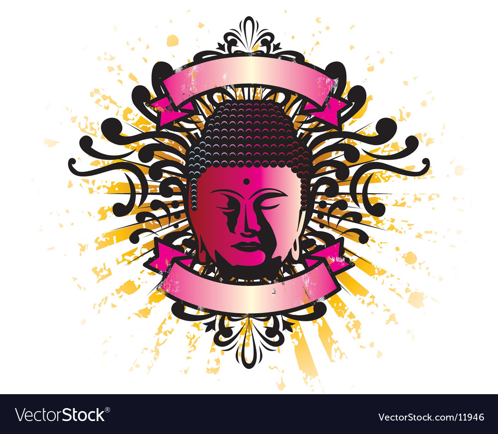 Buddha crest vector | Price: 1 Credit (USD $1)