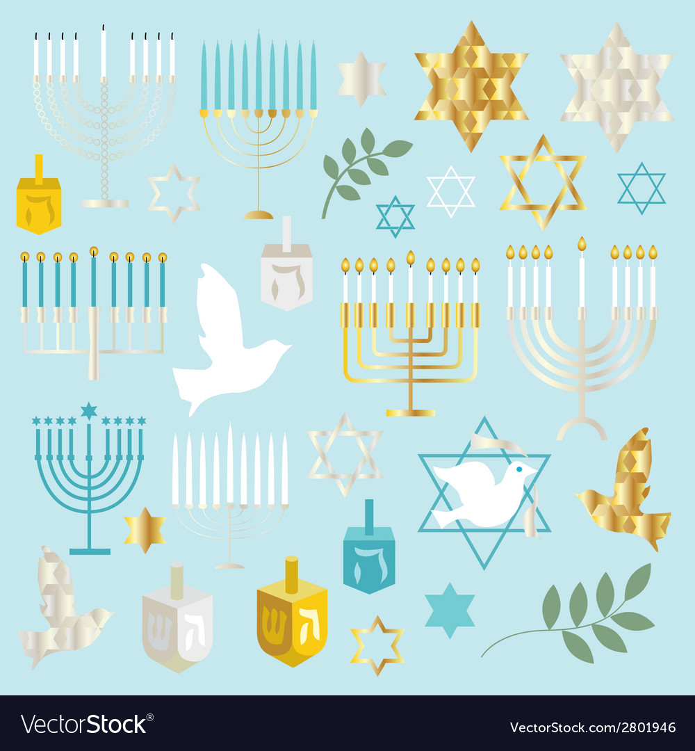 Chanukah clipart vector | Price: 1 Credit (USD $1)