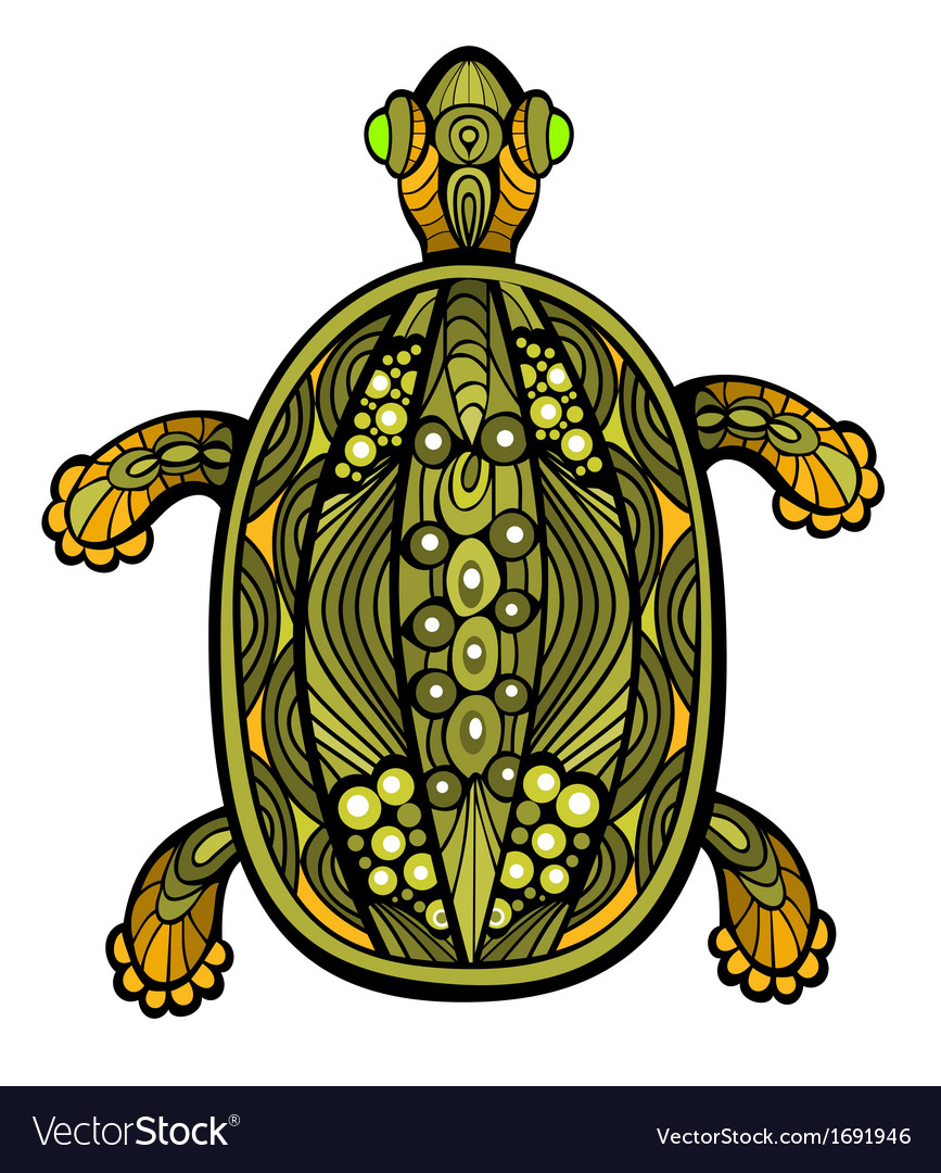 Fancy turtle vector | Price: 1 Credit (USD $1)
