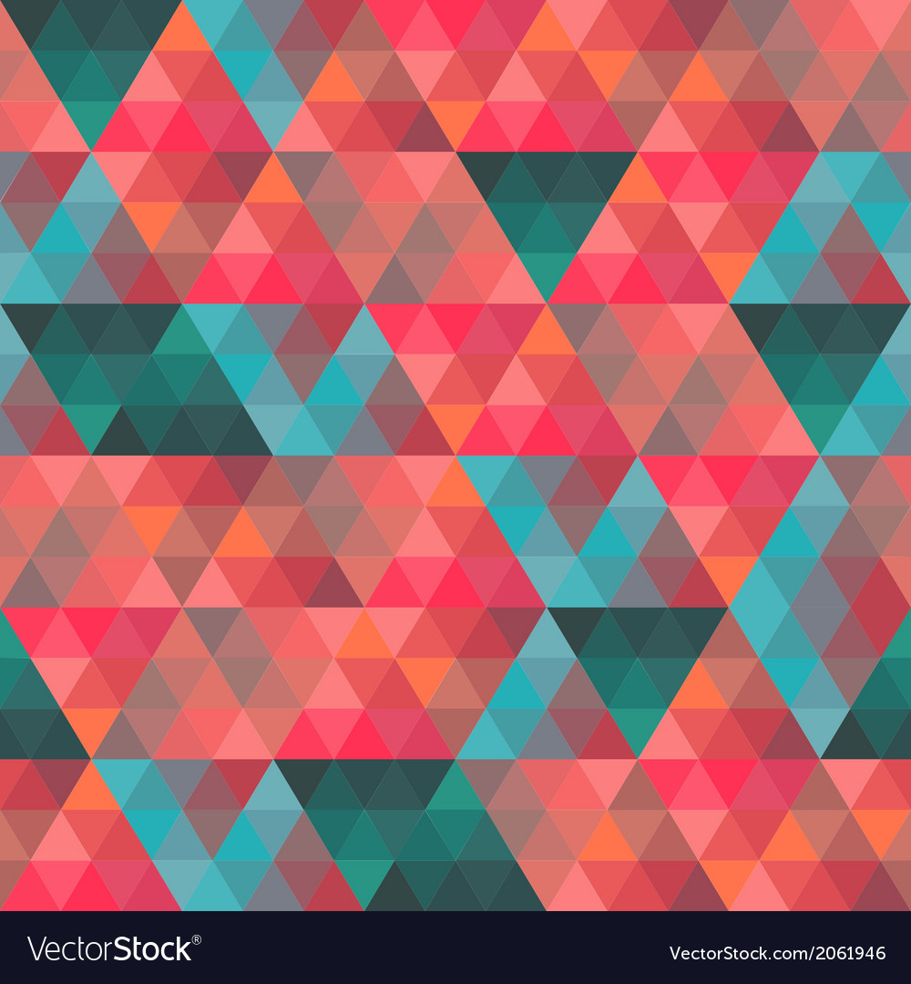 Seamless texture with triangles mosaic endless vector | Price: 1 Credit (USD $1)