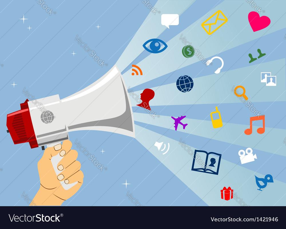 Social media communication vector | Price: 1 Credit (USD $1)