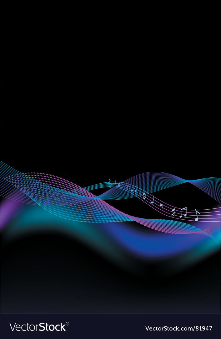 Abstract background for music vector | Price: 1 Credit (USD $1)