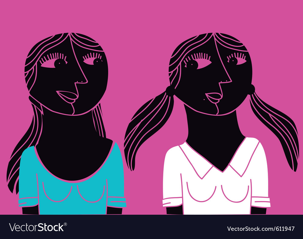 Abstract friends vector | Price: 3 Credit (USD $3)