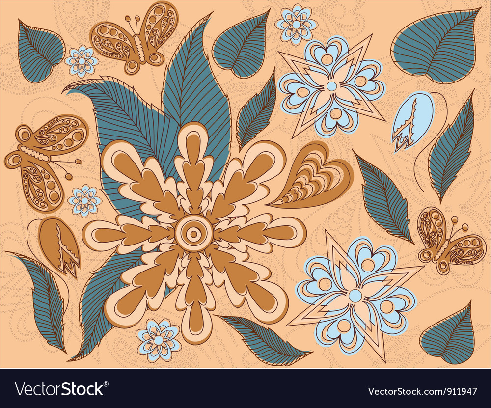 Arrangement of flowers vector | Price: 1 Credit (USD $1)