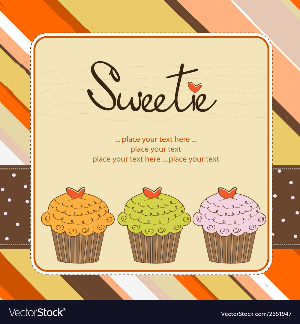 Birthday cupcake vector | Price: 1 Credit (USD $1)