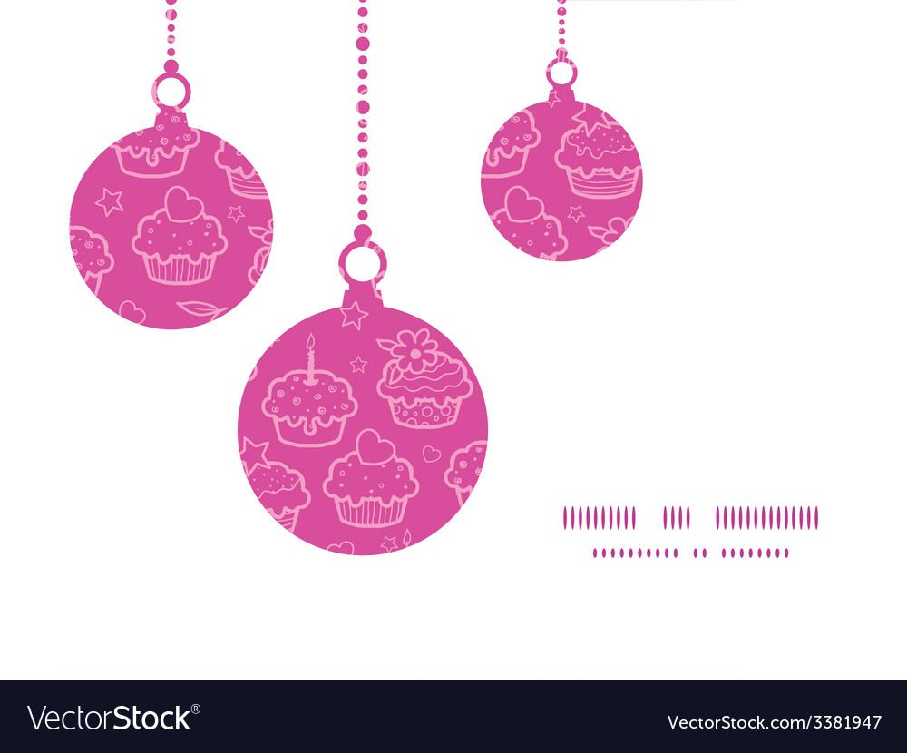 Colorful cupcake party christmas ornaments vector | Price: 1 Credit (USD $1)