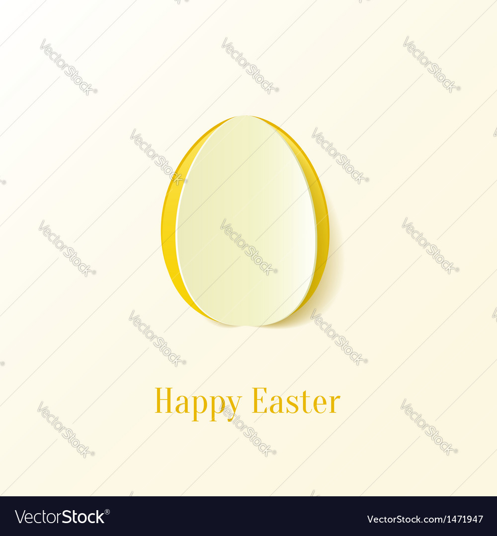 Creative paper cut easter egg vector | Price: 1 Credit (USD $1)