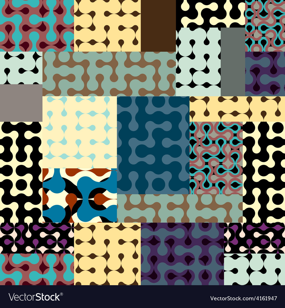 Droplet pattern in patchwork style vector | Price: 3 Credit (USD $3)
