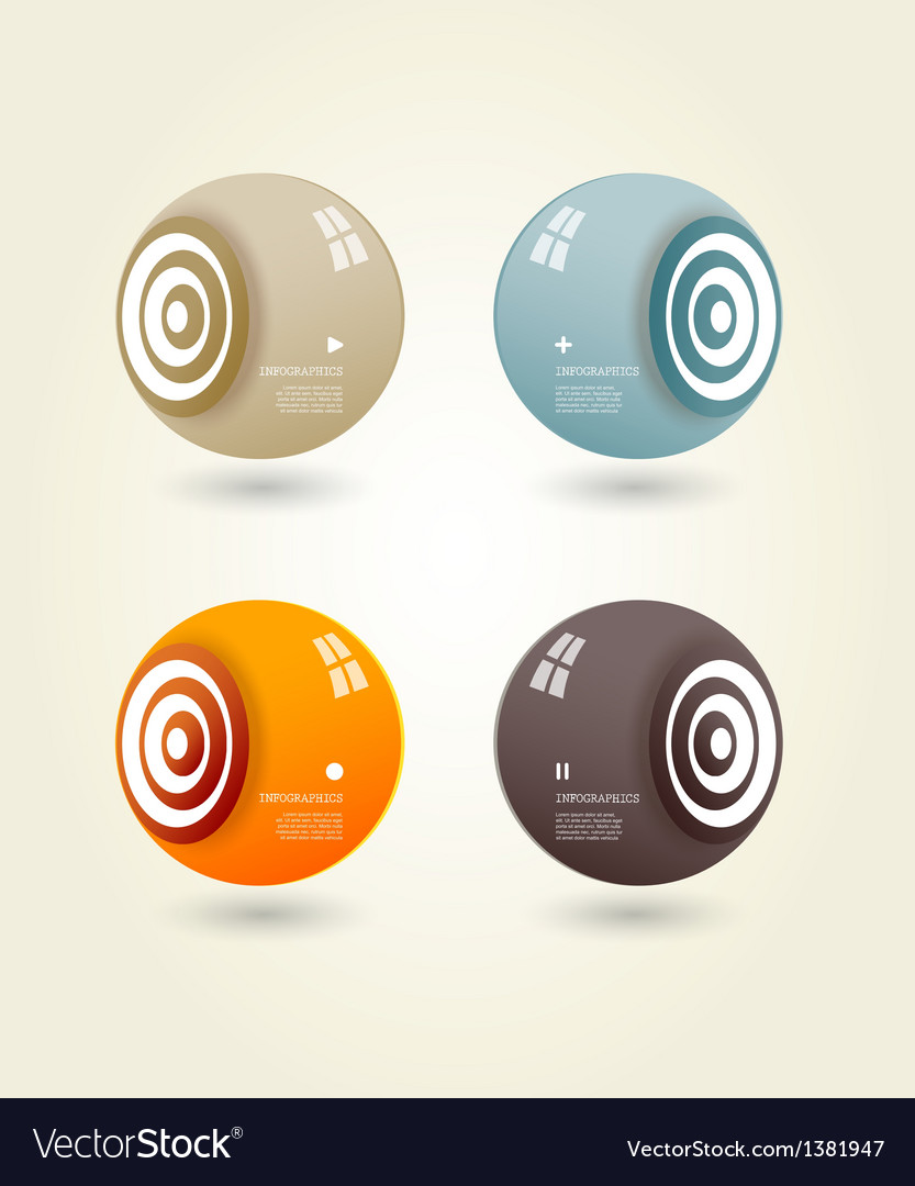 Four colored speakers with place for your own text vector | Price: 1 Credit (USD $1)