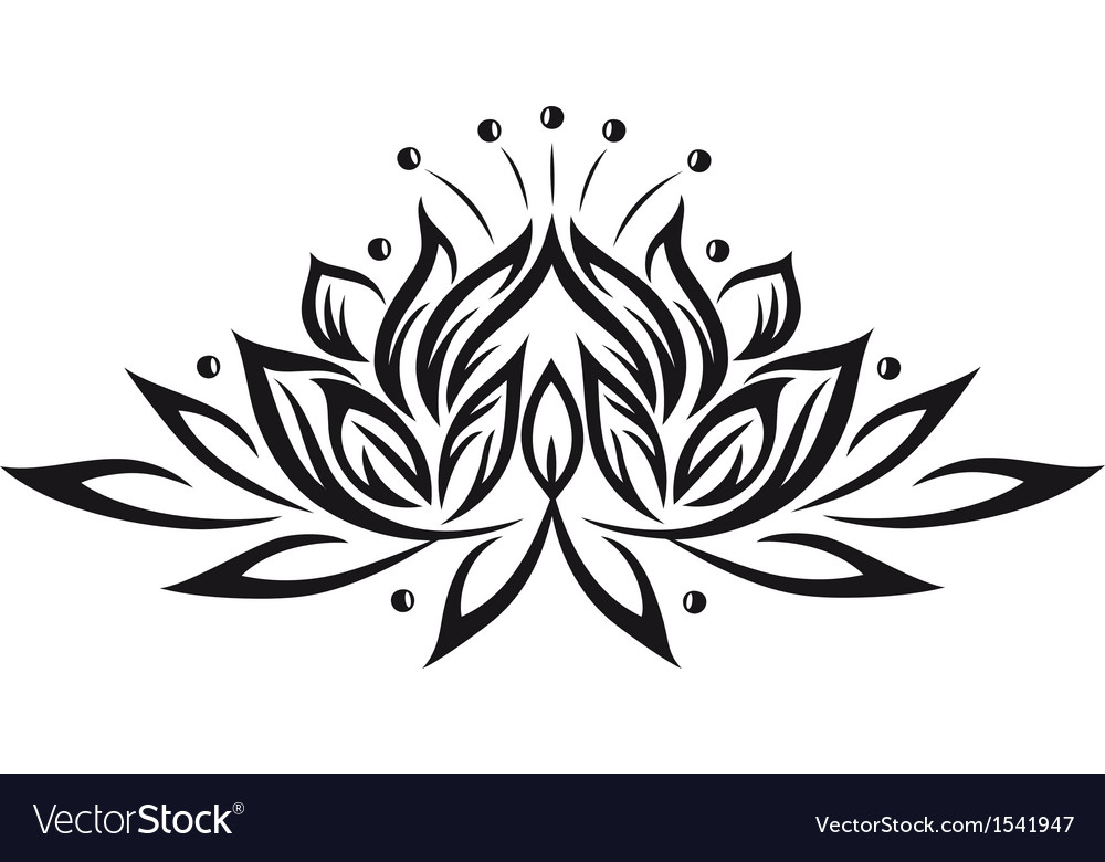 Lotus flower design element vector | Price: 1 Credit (USD $1)