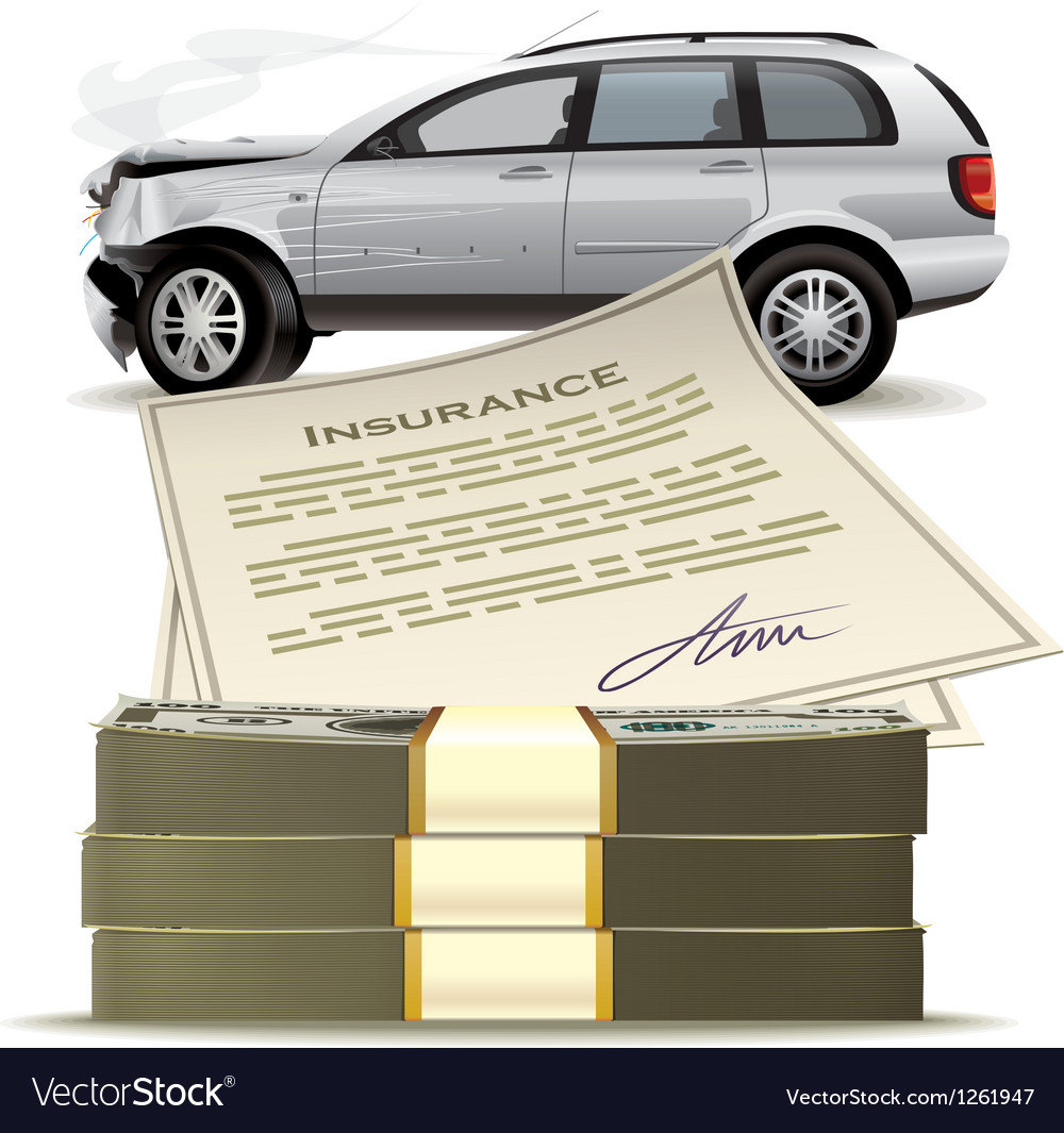 Money for the broken car vector | Price: 3 Credit (USD $3)