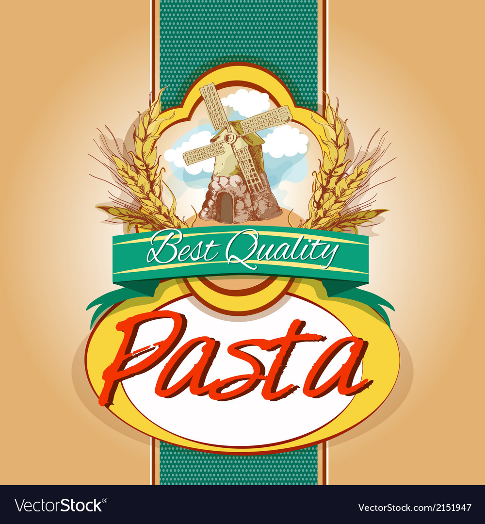 Pasta pack label vector | Price: 3 Credit (USD $3)