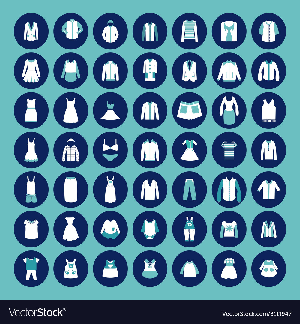 Set with collection of famaly clothing vector | Price: 1 Credit (USD $1)