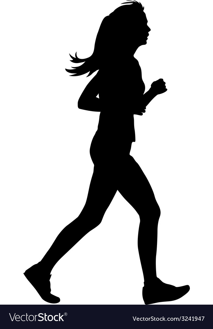 Silhouettes runners on sprint women vector | Price: 1 Credit (USD $1)