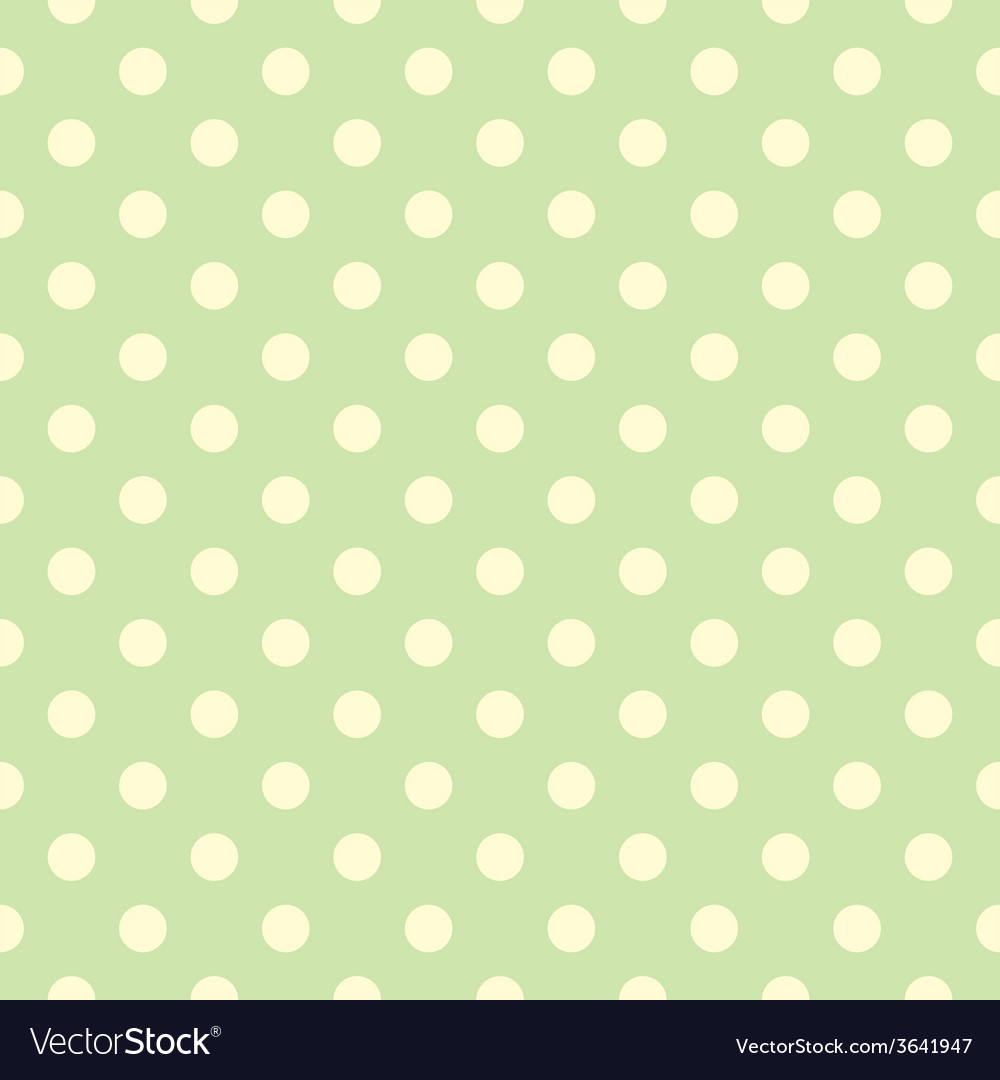 Tile pattern yellow polka dots green backgground vector | Price: 1 Credit (USD $1)