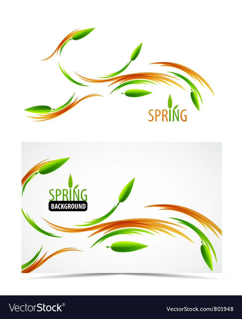 Abstract spring summer waves vector | Price: 1 Credit (USD $1)