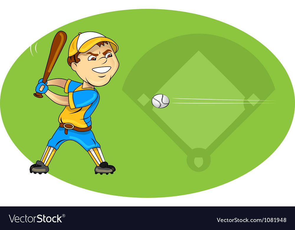 Baseball player swinging vector   Price: 1 Credit (USD $1)