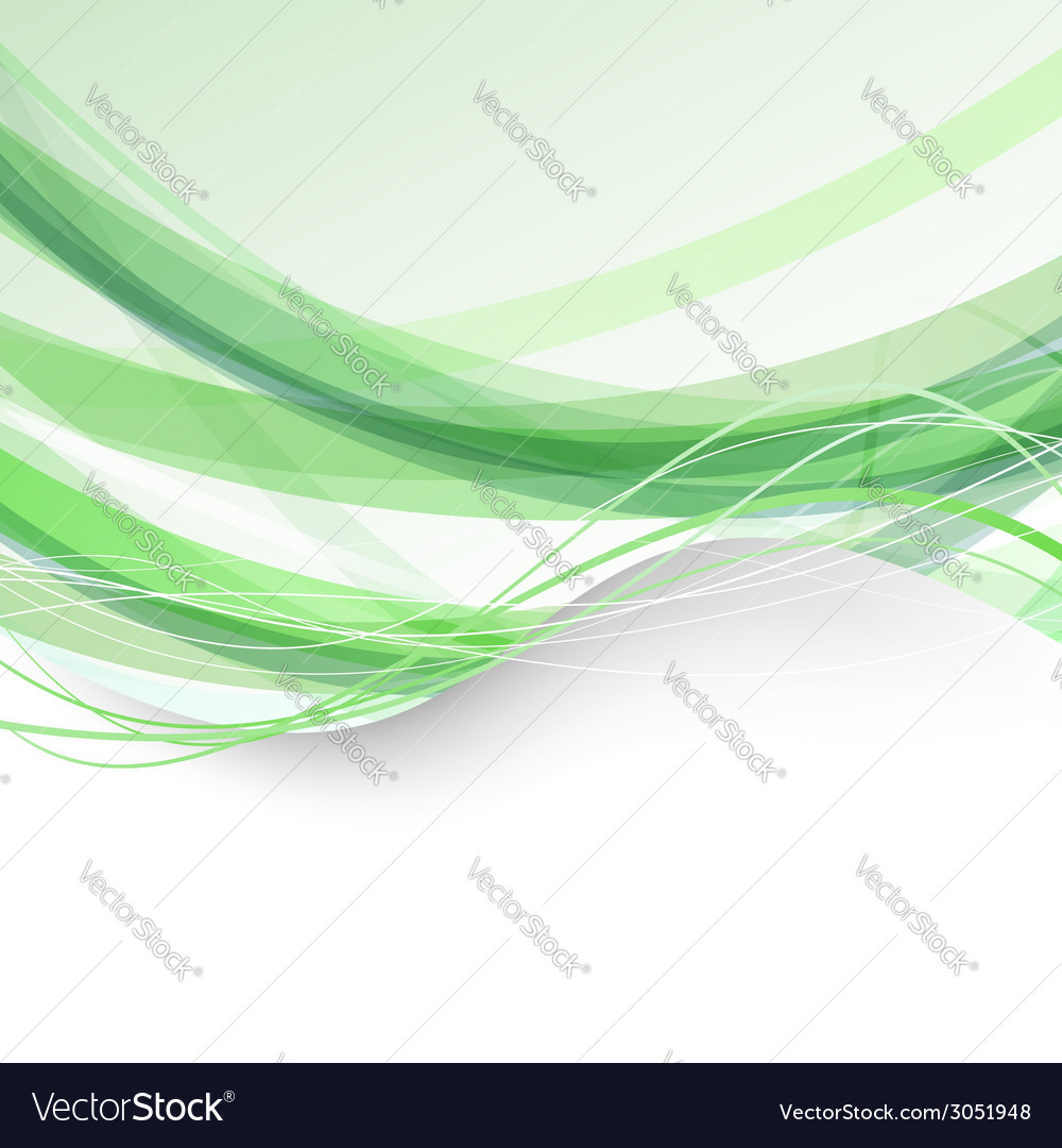 Border bright folder green swoosh background vector | Price: 1 Credit (USD $1)