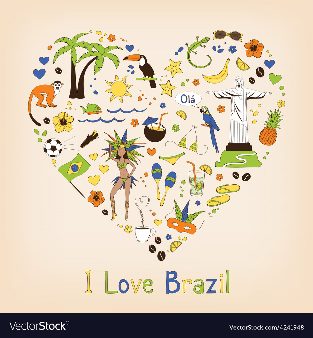 Brazil set vector | Price: 1 Credit (USD $1)