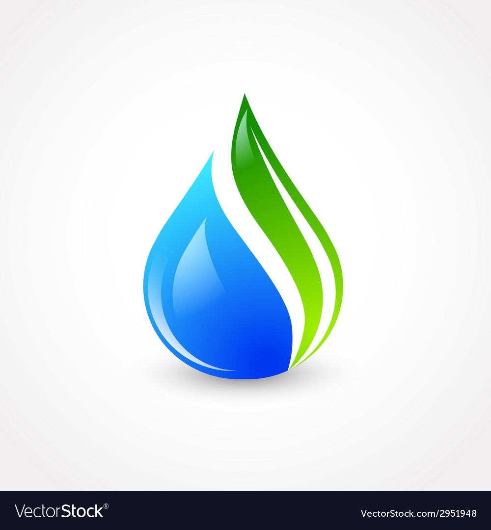 Eco water drop vector | Price: 1 Credit (USD $1)