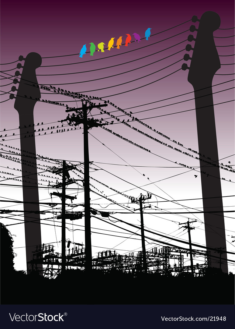 Electricity guitars vector | Price: 1 Credit (USD $1)