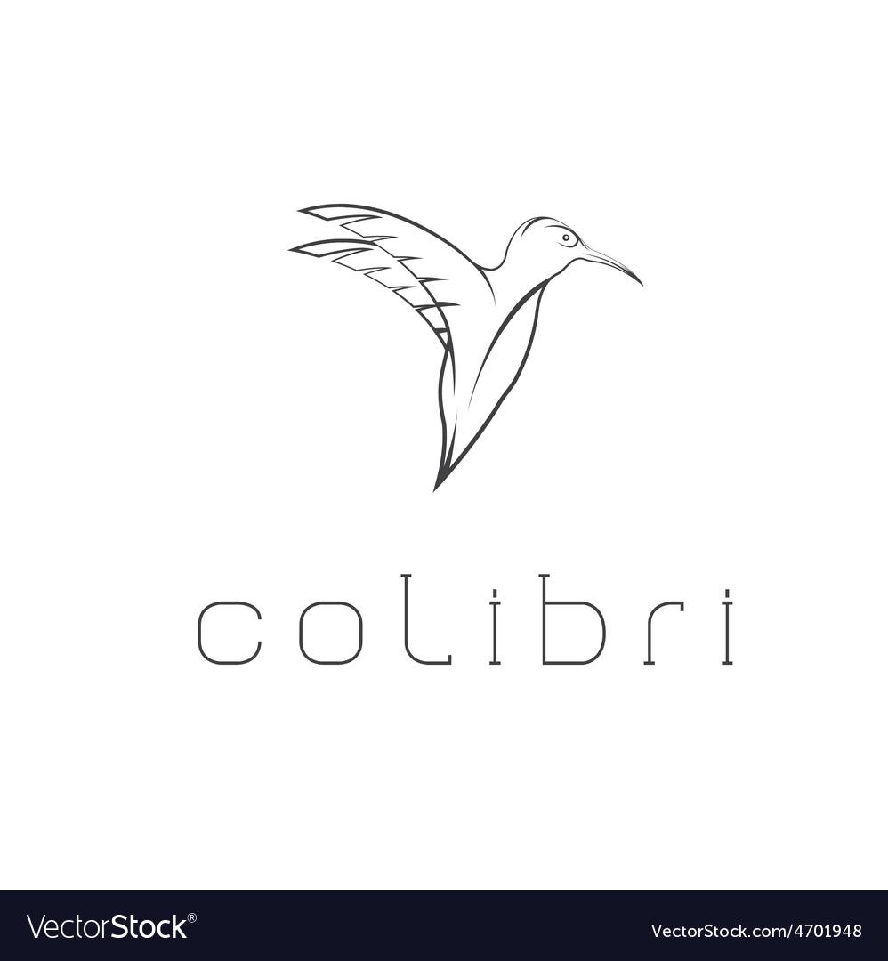 Hummingbird design template vector | Price: 1 Credit (USD $1)