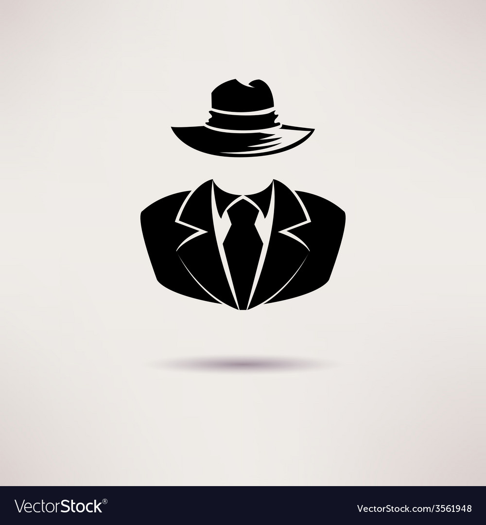 Icon spy secret agent the mafia icon vector | Price: 1 Credit (USD $1)