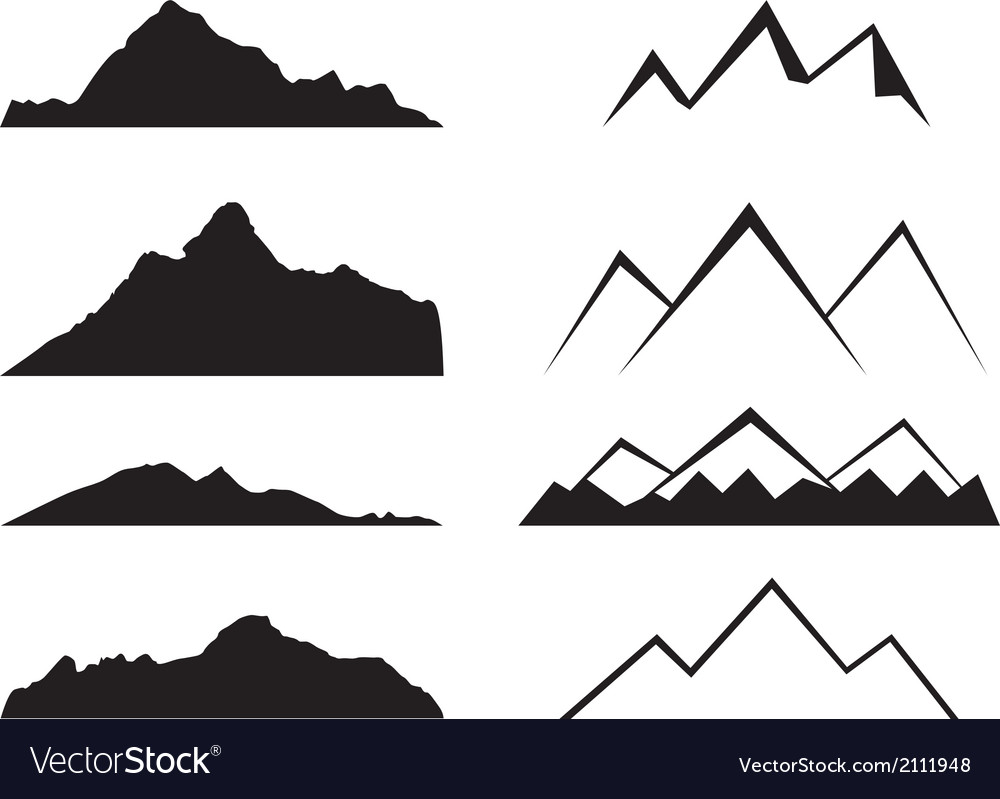 Mountains silhouette vector | Price: 1 Credit (USD $1)