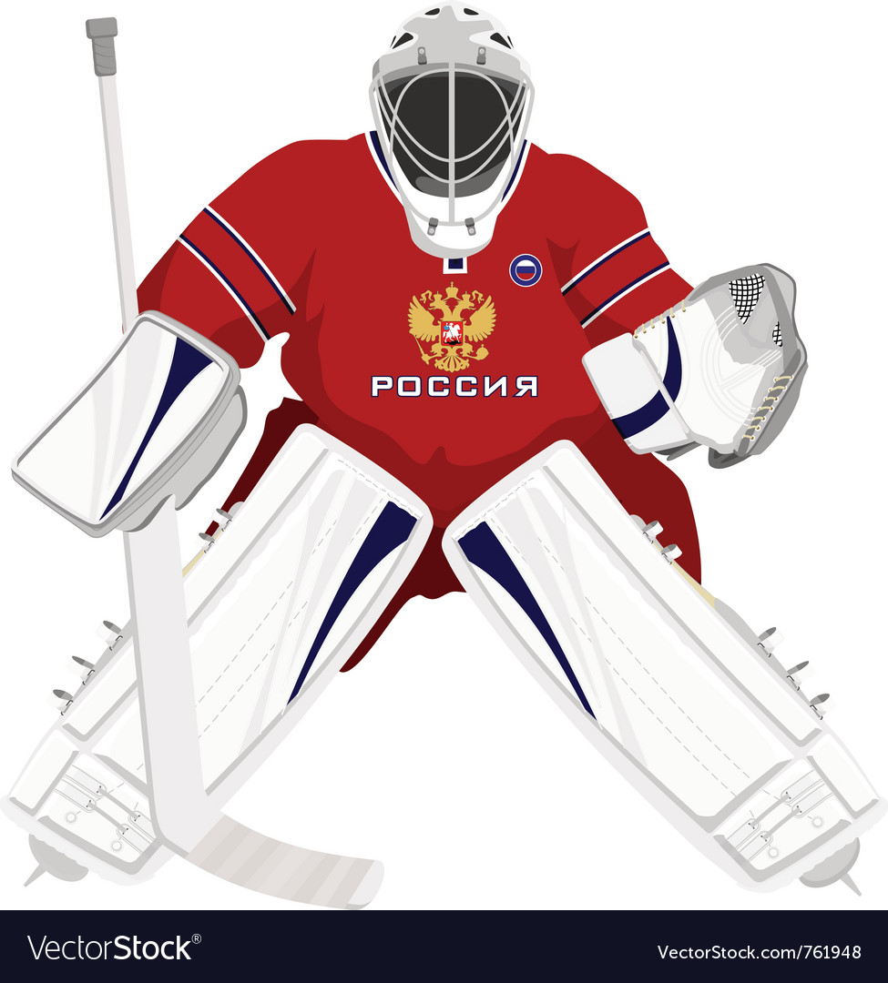 Team russian hockey goalie vector | Price: 3 Credit (USD $3)