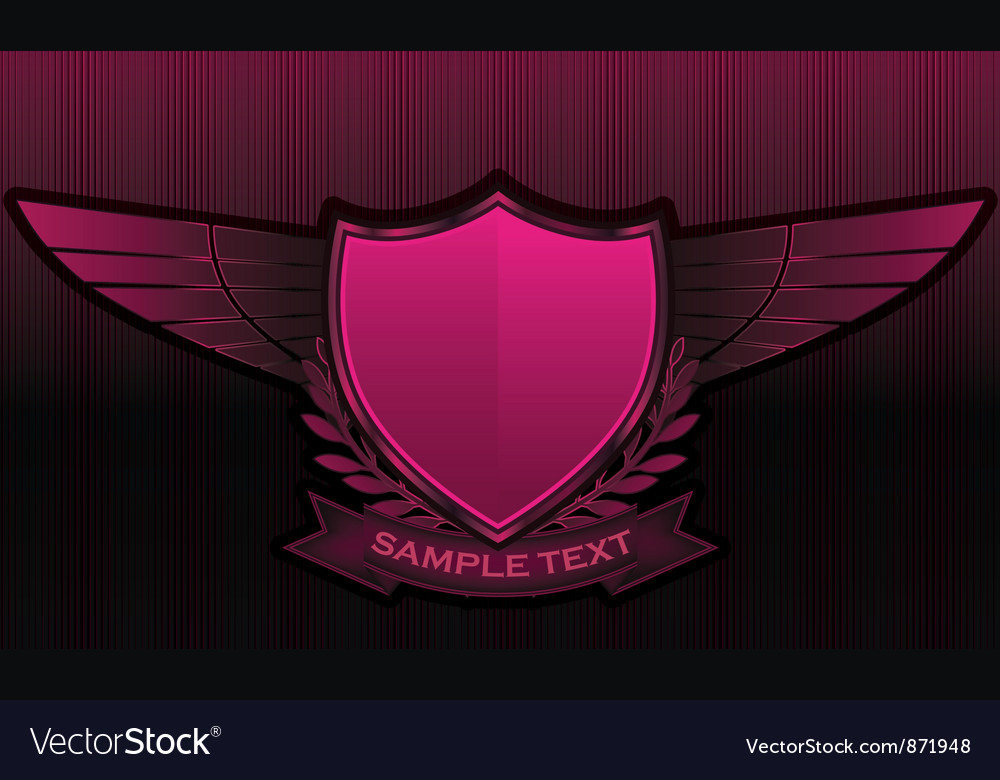 Vintage emblems with shield vector | Price: 1 Credit (USD $1)