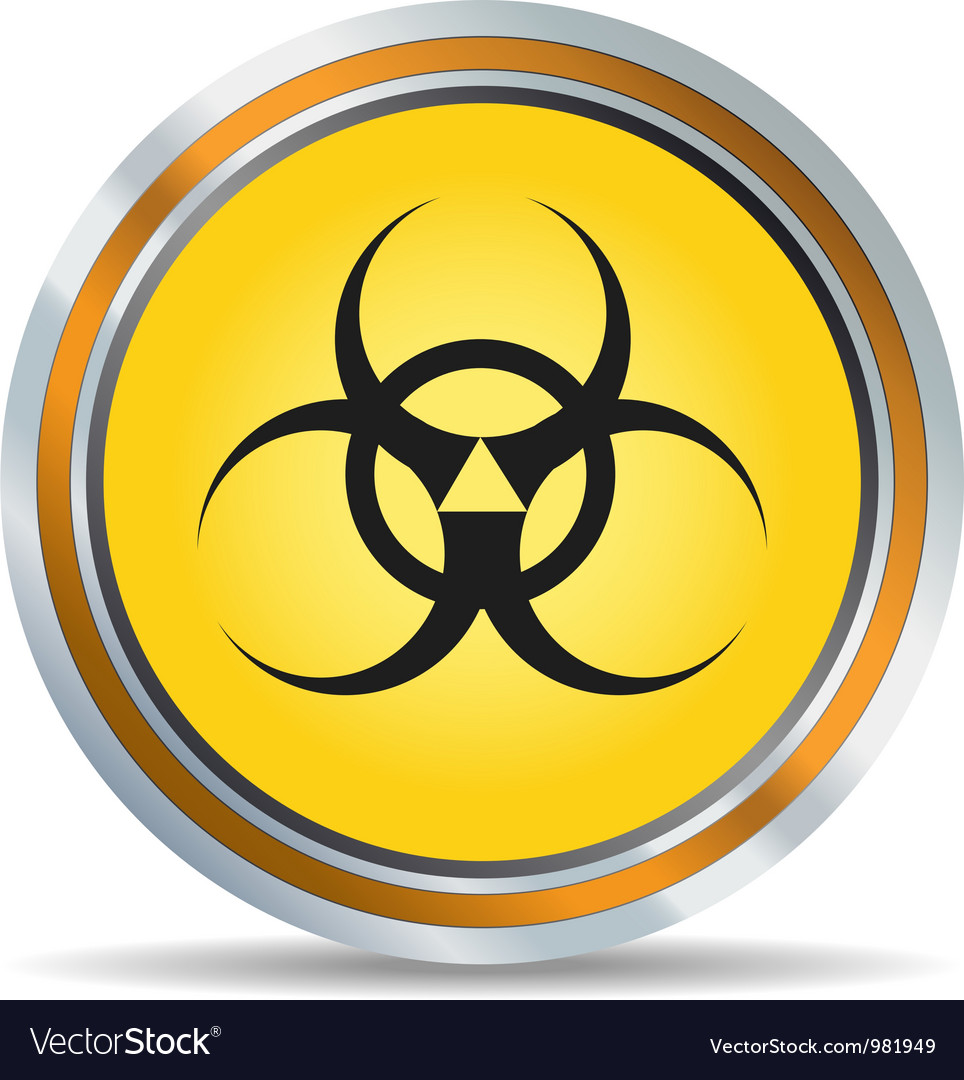 Biohazard icon vector | Price: 1 Credit (USD $1)