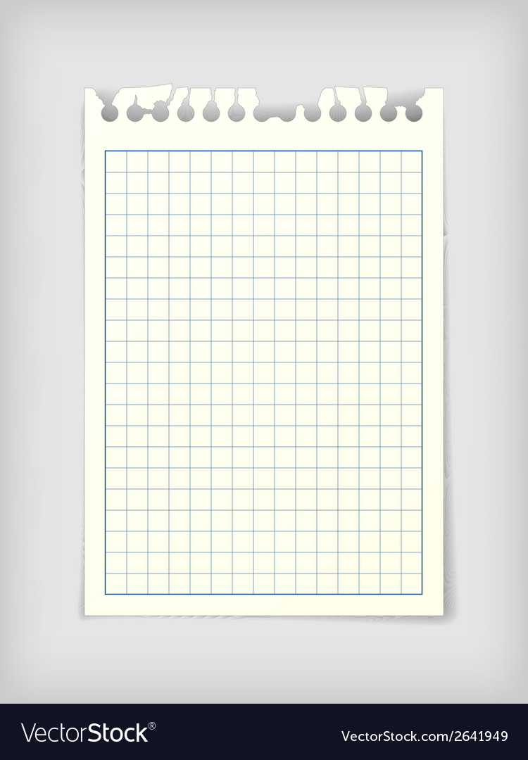 Checkered note paper sheet vector | Price: 1 Credit (USD $1)
