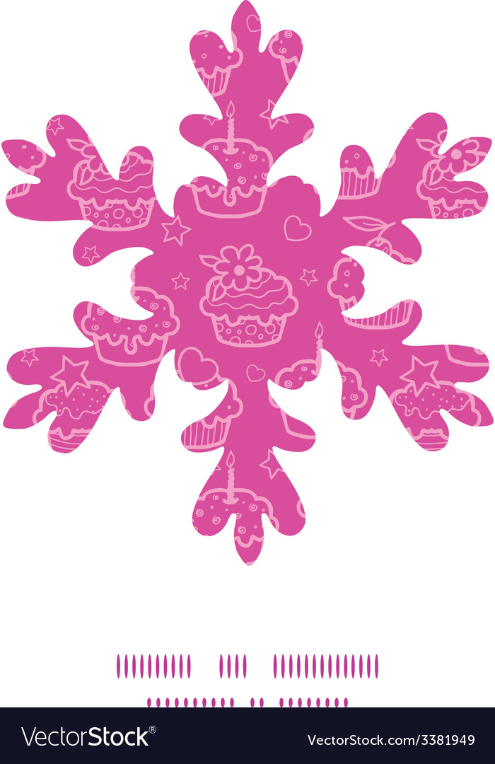 Colorful cupcake party christmas snowflake vector | Price: 1 Credit (USD $1)