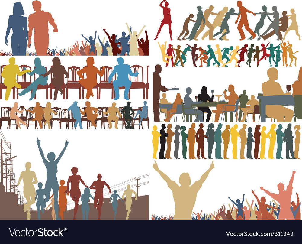 Foreground people vector | Price: 1 Credit (USD $1)