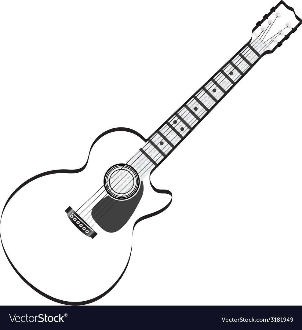 Guitar abstract vector | Price: 1 Credit (USD $1)