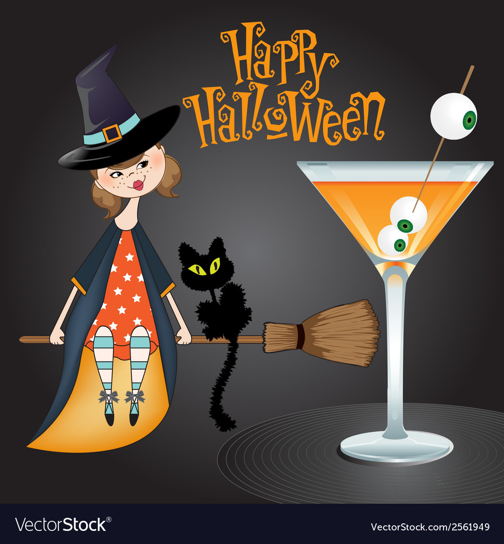 Halloween witch background vector   Price: 1 Credit (USD $1)